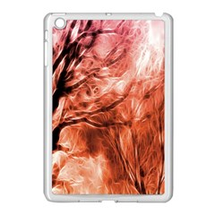 Fire In The Forest Artistic Reproduction Of A Forest Photo Apple Ipad Mini Case (white)