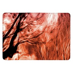 Fire In The Forest Artistic Reproduction Of A Forest Photo Samsung Galaxy Tab 8.9  P7300 Flip Case
