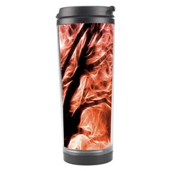 Fire In The Forest Artistic Reproduction Of A Forest Photo Travel Tumbler