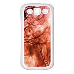 Fire In The Forest Artistic Reproduction Of A Forest Photo Samsung Galaxy S3 Back Case (white)