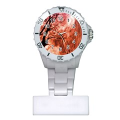 Fire In The Forest Artistic Reproduction Of A Forest Photo Plastic Nurses Watch