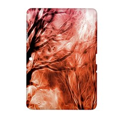 Fire In The Forest Artistic Reproduction Of A Forest Photo Samsung Galaxy Tab 2 (10.1 ) P5100 Hardshell Case