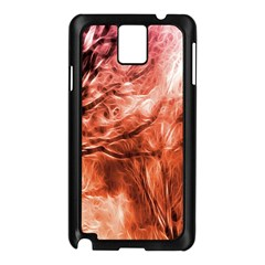 Fire In The Forest Artistic Reproduction Of A Forest Photo Samsung Galaxy Note 3 N9005 Case (Black)