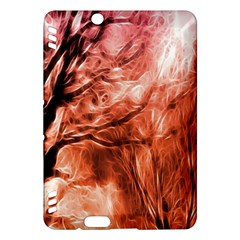 Fire In The Forest Artistic Reproduction Of A Forest Photo Kindle Fire HDX Hardshell Case