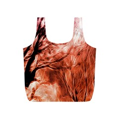 Fire In The Forest Artistic Reproduction Of A Forest Photo Full Print Recycle Bags (S)