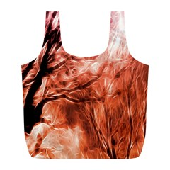 Fire In The Forest Artistic Reproduction Of A Forest Photo Full Print Recycle Bags (L)