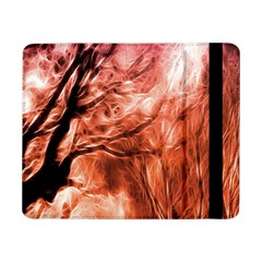 Fire In The Forest Artistic Reproduction Of A Forest Photo Samsung Galaxy Tab Pro 8 4  Flip Case