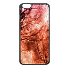 Fire In The Forest Artistic Reproduction Of A Forest Photo Apple iPhone 6 Plus/6S Plus Black Enamel Case