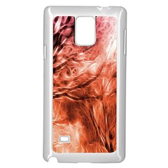 Fire In The Forest Artistic Reproduction Of A Forest Photo Samsung Galaxy Note 4 Case (white)