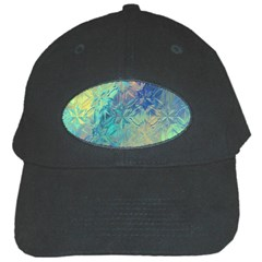 Colorful Patterned Glass Texture Background Black Cap