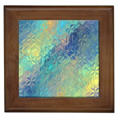 Colorful Patterned Glass Texture Background Framed Tiles