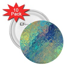 Colorful Patterned Glass Texture Background 2 25  Buttons (10 Pack)
