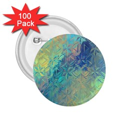 Colorful Patterned Glass Texture Background 2 25  Buttons (100 Pack)