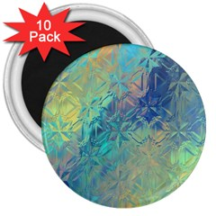 Colorful Patterned Glass Texture Background 3  Magnets (10 Pack)
