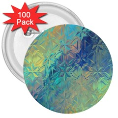 Colorful Patterned Glass Texture Background 3  Buttons (100 Pack)