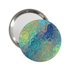 Colorful Patterned Glass Texture Background 2 25  Handbag Mirrors