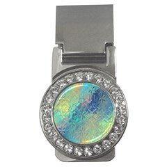Colorful Patterned Glass Texture Background Money Clips (cz)