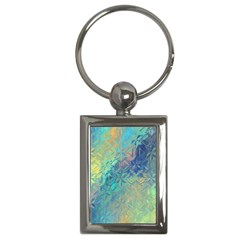 Colorful Patterned Glass Texture Background Key Chains (Rectangle)