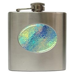 Colorful Patterned Glass Texture Background Hip Flask (6 Oz)