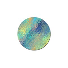 Colorful Patterned Glass Texture Background Golf Ball Marker (4 Pack)