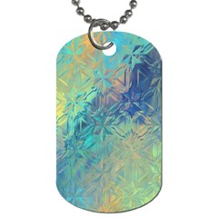 Colorful Patterned Glass Texture Background Dog Tag (two Sides)