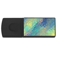Colorful Patterned Glass Texture Background USB Flash Drive Rectangular (1 GB)
