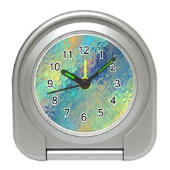 Colorful Patterned Glass Texture Background Travel Alarm Clocks