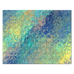 Colorful Patterned Glass Texture Background Rectangular Jigsaw Puzzl