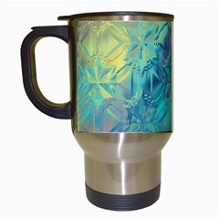 Colorful Patterned Glass Texture Background Travel Mugs (white)