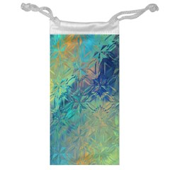 Colorful Patterned Glass Texture Background Jewelry Bag