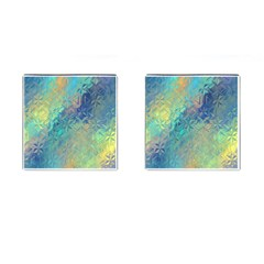 Colorful Patterned Glass Texture Background Cufflinks (square)