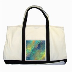 Colorful Patterned Glass Texture Background Two Tone Tote Bag