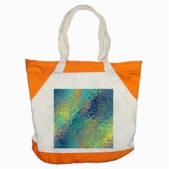 Colorful Patterned Glass Texture Background Accent Tote Bag