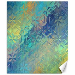 Colorful Patterned Glass Texture Background Canvas 8  X 10