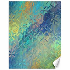Colorful Patterned Glass Texture Background Canvas 12  X 16