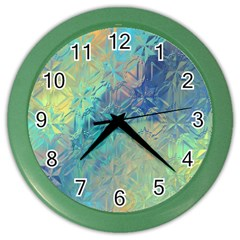 Colorful Patterned Glass Texture Background Color Wall Clocks