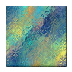 Colorful Patterned Glass Texture Background Face Towel