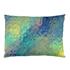 Colorful Patterned Glass Texture Background Pillow Case