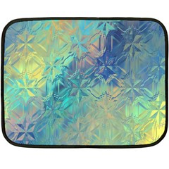 Colorful Patterned Glass Texture Background Fleece Blanket (Mini)