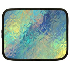 Colorful Patterned Glass Texture Background Netbook Case (xxl)