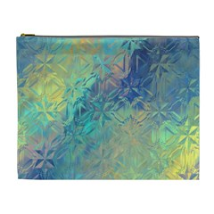 Colorful Patterned Glass Texture Background Cosmetic Bag (xl)