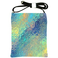 Colorful Patterned Glass Texture Background Shoulder Sling Bags