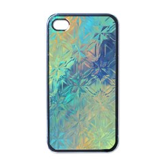 Colorful Patterned Glass Texture Background Apple iPhone 4 Case (Black)