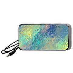 Colorful Patterned Glass Texture Background Portable Speaker (black)