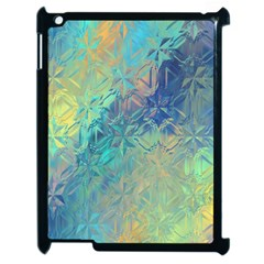Colorful Patterned Glass Texture Background Apple Ipad 2 Case (black)