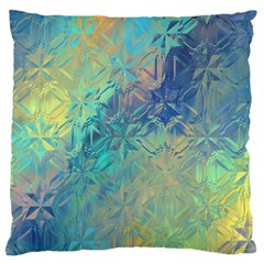 Colorful Patterned Glass Texture Background Large Cushion Case (Two Sides)