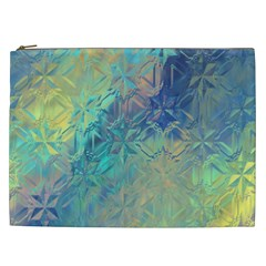 Colorful Patterned Glass Texture Background Cosmetic Bag (XXL)