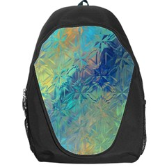 Colorful Patterned Glass Texture Background Backpack Bag