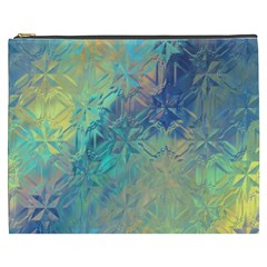 Colorful Patterned Glass Texture Background Cosmetic Bag (xxxl)