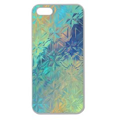 Colorful Patterned Glass Texture Background Apple Seamless iPhone 5 Case (Clear)
